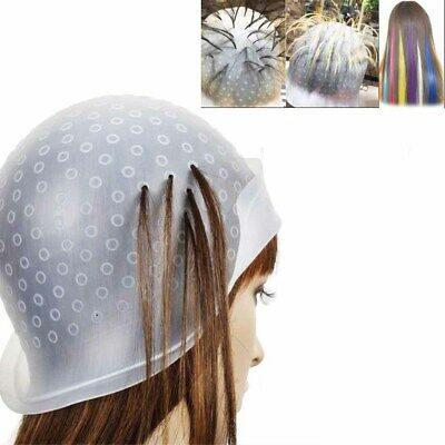 Professional Reusable Hair Colouring Highlighting Dye Cap and Hook Frosting Tip