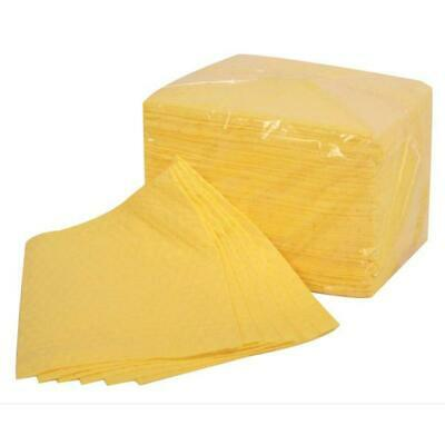 Fentex Chemical Absorbent Pads 85 Litres 400x500mm Yellow Ref CB100M [Pack 100]