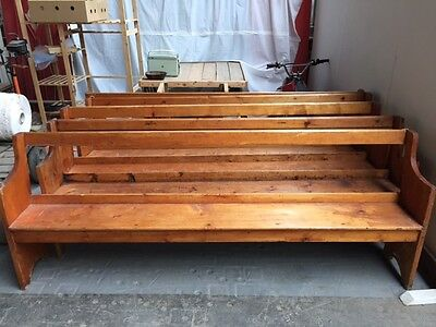 Victorian Antique Church Pew Bench