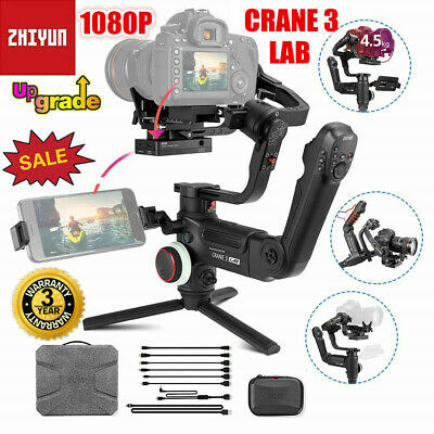 Zhiyun Crane 3 LAB 3-Axis 1080P HD Handheld Gimbal Stabilizer For DSLR Camera UK