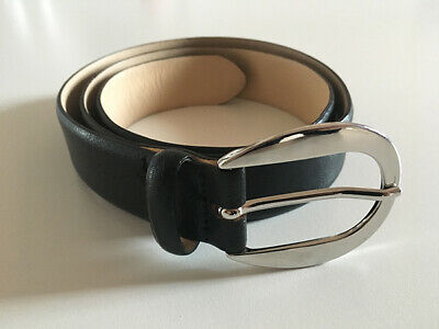 Cintura Donna In Pelle Nera Made In Italy Tg. 75 - Black Genuine Leather Belt
