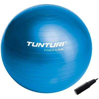 Tunturi Fun Gym Workout Stability Swiss Yoga Exercise Ball with Pump - 55 / 90cm