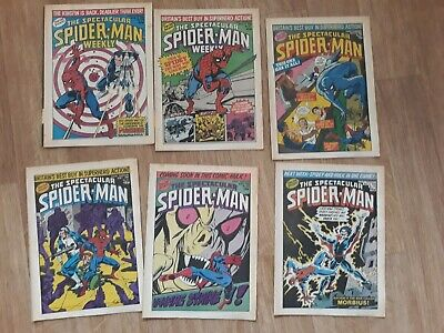 Marvel Comics bundle - Vintage 1980 - Spectacular Spiderman weekly