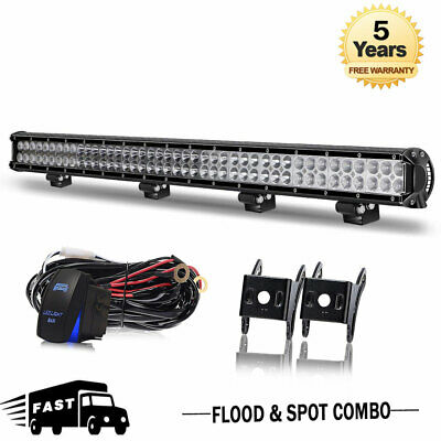 36inch 4524W LED Light Bar Spot Flood Dual Row Offroad Truck Driving Lamps