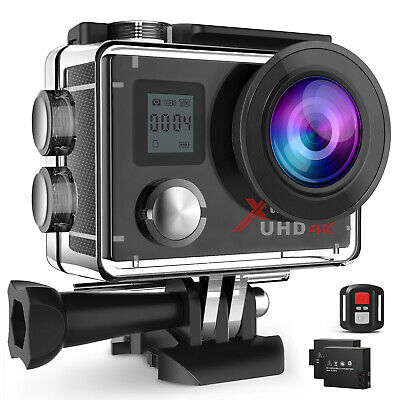 Campark ACT76 HD 4k Action Kamera WiFi Sports Cam Fernbedienung Wasserdicht+32GB