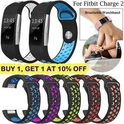 Soft Silicone Replacement Spare Watch Band Bracelet Strap for Fitbit Charge 2 UK