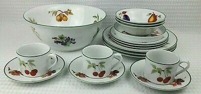 Royal Worcester Evesham Vale Porcelain Dinner & Tea Items - Sold Individually
