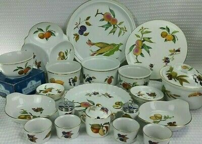 Royal Worcester Evesham Gold Cookware & Dinner Service Items - Sold Individually