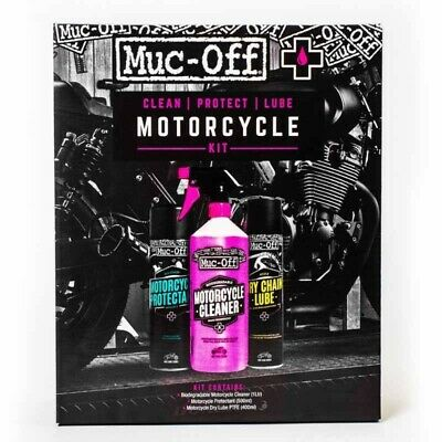 Kit entretien Muc-OFF Motorcycle Clean Protect & Lube nettoyant protection l