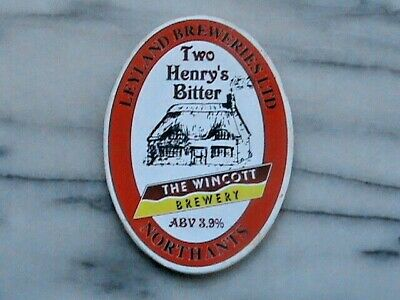 Leyland Wincott Two Henry's Bitter real ale beer pump clip sign