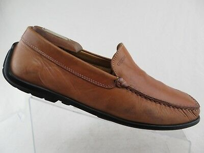 e822ccd706c96 GEOX LEATHER DRIVING Mocs Loafer Shoes Brown Men's Size 43.5EU Size ...
