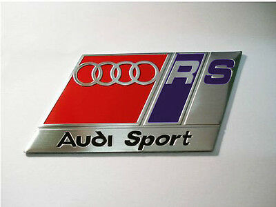 NEW Brushed Aluminium Audi Sport RS Car Badge TT