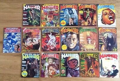 HOUSE OF HAMMER / HALLS OF HORROR 16 magazine part collection