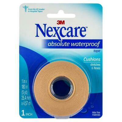 Nexcare Absolute Waterproof Tape 25.4mm x 4.57m Flexes & Stretches With Body