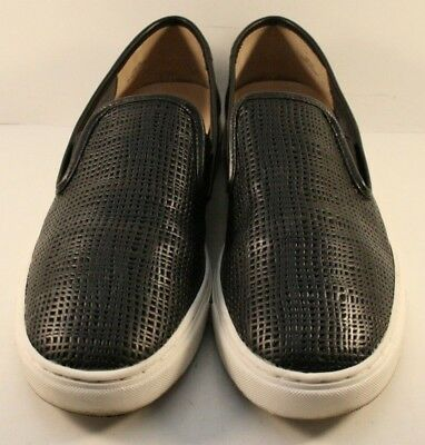 a4026c1f233 Vince Camuto Black Leather Becker Slip On Fashion Sneakers Womens Size US 9M