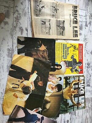 Lot Of Bruce Lee Colour Magazine Photo Pictures & King Of Kung Fu Mag