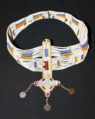 African Maasai Masai Beaded Ethnic Tribal Head Crown Tiara Jewelry - Tanzania 04