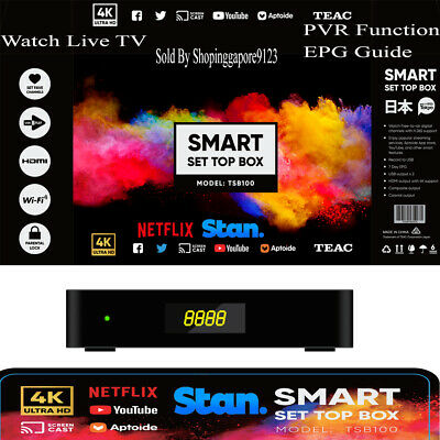 TEAC 4K Smart TV Box Android Set Top  box Netflix Stan Movie Stream PVR TV Tuner