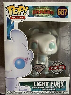 Funko Pop! How To Train Your Dragon - Light Fury - Diamond Glitter Exclusive