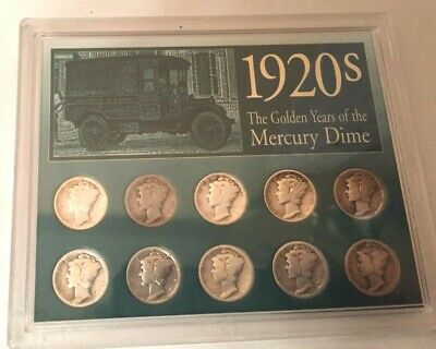 1920's The Gold Years of The Mercury Dime - Set of 10