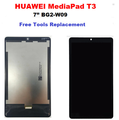 "TOUCH DIGITIZER WITH LCD SCREEN HUAWEI MediaPad T3 7"" BG2-W09 Black Free Tools"
