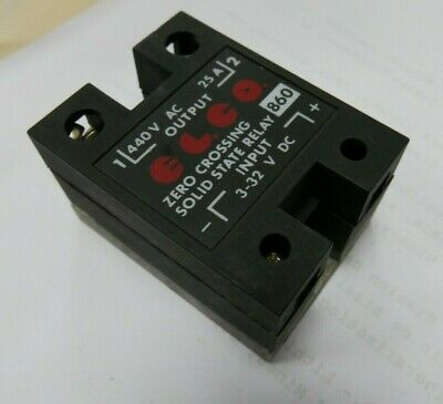 ELCO SOLID STATE RELAY, 1PH, ZERO-CROSSING (SCR), 440VAC 25A 3-32VAC, w/COVER