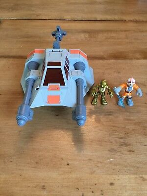 2009 LFL Hasbro STAR WARS FIGHTER C-082A SHIP WITH FIGURES TOY