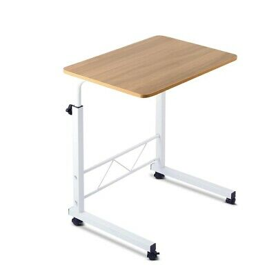 Portable Laptop Desk Mobile Study Table Height Adjustable Light Wood