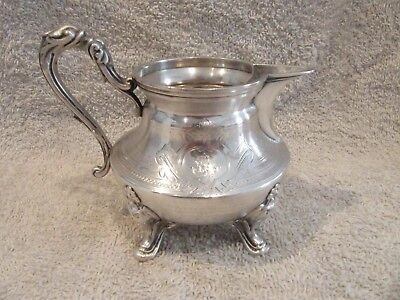 Gorgeous 1900 french sterling guilloche silver creamer Louis XVI st 136g 4,8oz