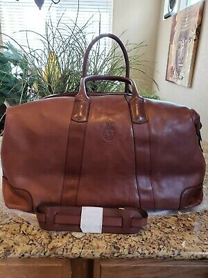 a64cfb7fe72 New Polo Ralph Lauren Core Brown Leather Duffle Bag Travel Thespot917