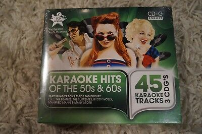Karoake Hits of the 50's and60's 3 x CD+G NEW Factory Sealed