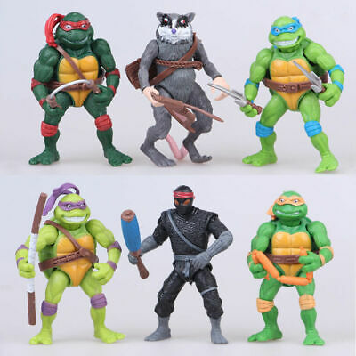 6 PCS USA TMNT Teenage Mutant Ninja Turtles Action Figures Anime Movie US STOCK