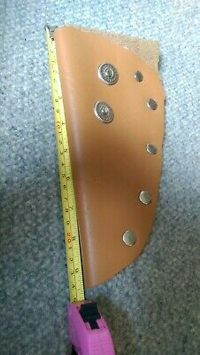 REDUCED! Handmade Tan Leather Knife Sheath For Belt. New