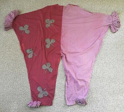 Rare 19th / Early 20th Century Clown Costume - Antique Theatrical / Fancy Dress