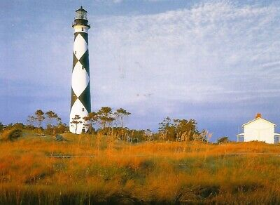 Postcard North Carolina Cape Lookout Island Lighthouse Outer Banks MINT