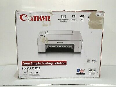 Canon Pixma TS3122 White Wireless All-In-One Printer MFP InkJet NEW SEALED ✅❤️️