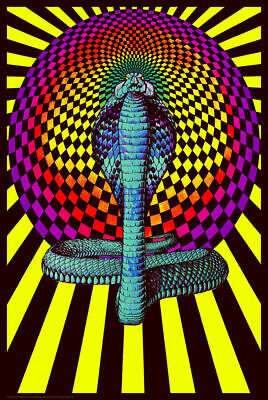 LAVA FLOW PSYCHEDELIC BLACKLIGHT POSTER 24X36