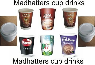 mixed box  In Cup Drinks 2GO 12oz 340ml 70 drinks+70 Sip Lids make your own box