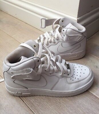 edee6cf7c8 NIKE AIR Force AF-1 '82 Boys UK 4.5 White High Top Boots Trainers
