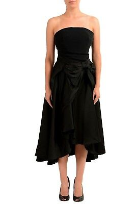 cd4e7bbaa5 VIKTOR & ROLF Black Wool Sleeveless Belted Trench Coat Dress IT 46 ...