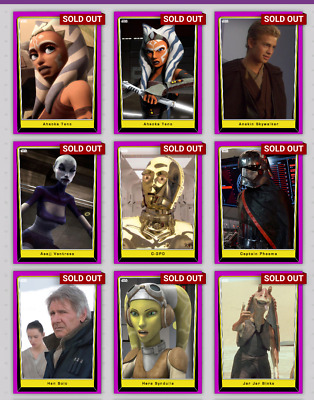 Topps Star Wars Card Trader Lot Of 19 Purple Preview Series 5 Base*Not Physical