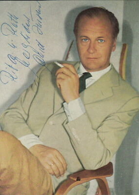 CURD JÜRGENS vintage signed photo  ACTOR   James Bond  The Spy Who Loved Me