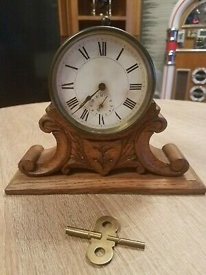 "Rare Antique Edwardian Brass cased French Drum ""Alarm"" clock for working"