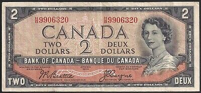 1954 Bank Note Devil's Face $2 Canada Beattie/Coyne P67b VF TMM*