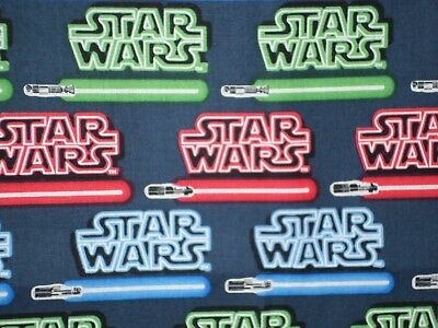 Camelot Fabric Star Wars Logo /& Lightsaber HALF METRE