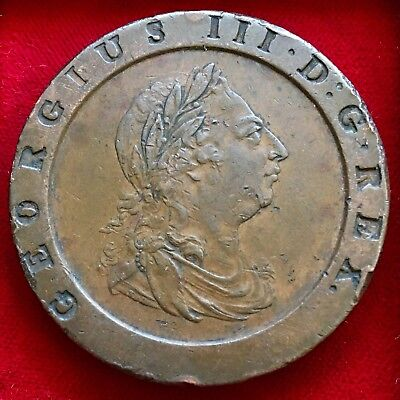 George III, 'Cartwheel' Twopence, 1797. Large And Heavy Coin. 56g, 41mm.