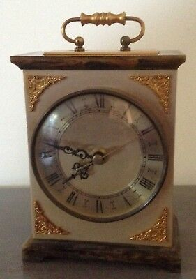 Bentima  VINTAGE CARRIAGE/MANTLE QUARTZ CLOCK  WORKING