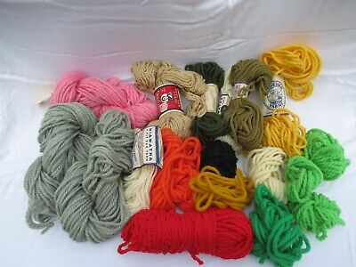 Rug Yarn Misc Lot Many Colors
