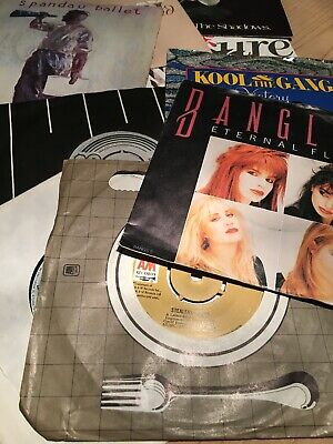 "MIxed BUNDLE OF 10 7"" ViNYL 45rpm RECORD COLLECTION Shadows Bangles Stealers"