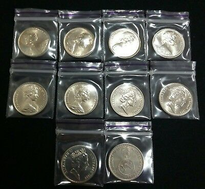 1972 Australia 5 cent Circulated and 10×Unc 5 cent coins see description